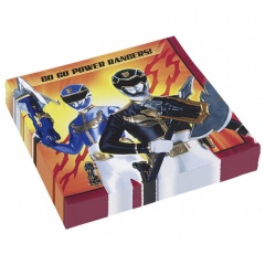Power Rangers Luncheon Napkins, 33 cm, Amscan 552535, Pack of 20 pieces
