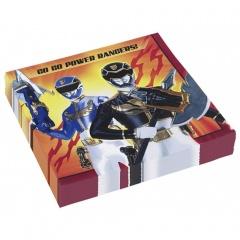 Servetele de masa pentru petrecere copii - Power Rangers, 33 cm, Amscan 552535, Set 20 buc