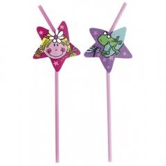 Paie flexibile pentru petrecere cu Funky Fairy- 24cm, Amscan 551672, Set 8 buc