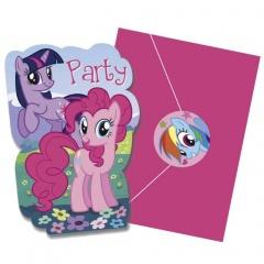 Invitatii de petrecere My Little Pony, Amscan 996366, Set 8 buc