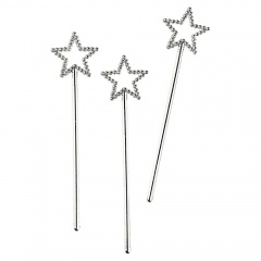 Funky Fairy Sparkle Packaged Favor Wands, Amscan 552086,Pack of 6 pieces