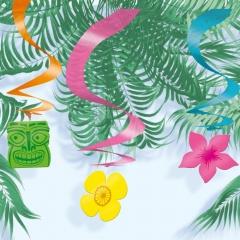 Serpentine decorative cu flori -60cm, Amscan 670081, Set 15buc