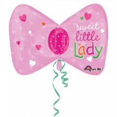 Sweet Little Lady Supershape Foil Balloon, Amscan, 68 x 50 cm, Amscan 28812