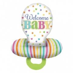 Baby Dummy Multi Foil Balloons- 55 x 73cm, Amscan 30952