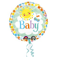 Standard Friendly Baby Sun Foil Balloon 43 cm, 1 piece, Amscan 30751, 1 piece