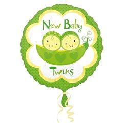 Balon Folie 45 cm New Baby Twins, Amscan 26744, 1 bucata
