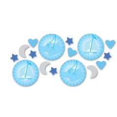 Christening Blue Booties Confetti, Amscan 997306