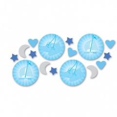 Confeti bleu pentru botez, Amscan 997306