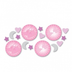 Confeti de masa roz pentru botez, Amscan 997295