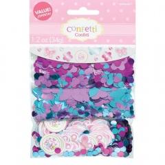 Confeti Welcome baby girl pentru botez, Amscan 361458
