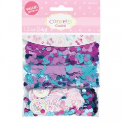 Welcome Baby Girl 3 Pack Value Confetti , Amscan 361458