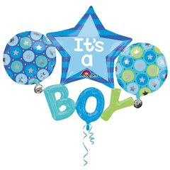 Multi Balloon It's A Boy Foil Balloon - 134 x 99 cm, Amscan 31222