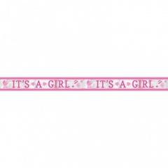Banner decorativ pentru petrecere  It's a girl 7.62m, Amscan 120187, 1 buc