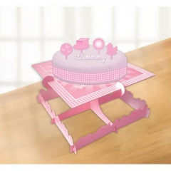 Christening Pink Booties Cake Decorating Kits, Amscan 997300, Pack of 6 pieces