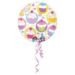 Cupcake Foil Balloon - 45cm, Amscan 29304