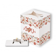 Lampion decorativ - I love you, Radar 5406, 1 bucata