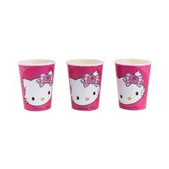 Pahare carton Charmmy Kitty pentru petrecere copii, 250ml, Amscan 551727, Set 8 buc