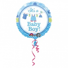 Balon Folie 45cm It's a Baby Boy, Amscan 30910