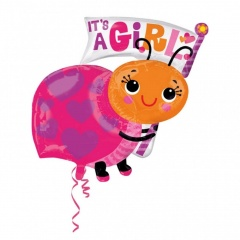 It's a girl SuperShape Foil Balloon, 63 x 81cm, Amscan 33659