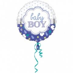Baby Boy Foil Balloon - 45cm, Amscan 3364201