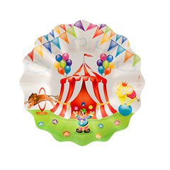 Circus Party Plates 21 cm, Radar 63423, Pack of 8 Pieces