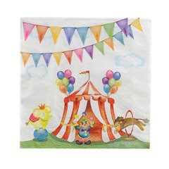 Circus Party Luncheon Napkins, 33 cm, Radar 63425, Pack of 16 pieces