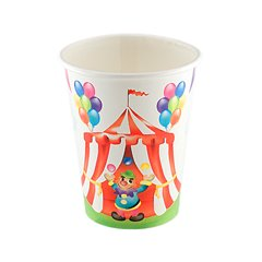 Circus Party Paper Cups, 200 ml, Radar 63424, Pack of 8 Pieces