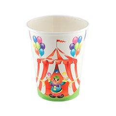 Pahare carton pentru petrecere copii Circ, 200 ml, Radar 63424, Set 8 buc