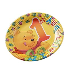 1st Birthday Party Paper Plates, Radar 61240, Pack of 10 pieces