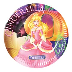 Cinderella Party Plates 18 cm, Radar 61288, Pack of 10 pieces