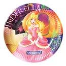 Cinderella Party Plates 18 cm, Radar 61288, Pack of 10 pieces