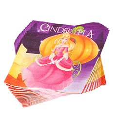 Cinderella Party Luncheon Napkins, 33 cm, Radar 61290, Pack of 20 pieces