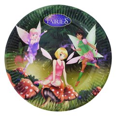 Fairies Paper Plates 23 cm, Radar 61291, Pack of 10 Pieces