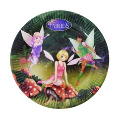 Fairies Paper Plates 18 cm, Radar 61292, Pack of 10 Pieces