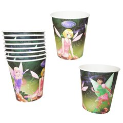 Fairies Paper Party Cups, 290 ml, Radar 61293, Pack of 10 pieces