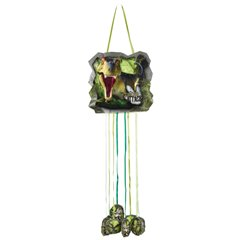 Dinosaur Attack Pinata with Strings, Amscan 9900371, 1 piece