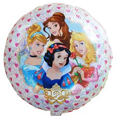"18"" Disney Princesses Holographic Round Foil Balloon, Amscan 32928"