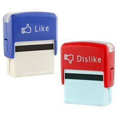 Stampila Like/Dislike - 6.5cm, Radar 29/3161, Set 2 buc