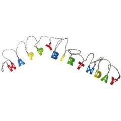 Ghirlanda luminoasa Happy Birthday cu LED - 2.30m, Radar 57/8011