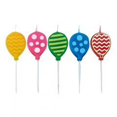 Party Balloons Molded Candles, Radar 51194, Pack of 5 Pieces