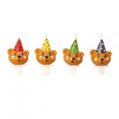 Lumanari aniversare pentru tort figurine ursulet, Radar 51498, set 4 bucati