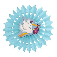 Blue Boy Paper Fan Decoration - 50cm, Radar 545.51