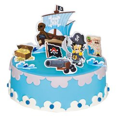 Pirate Cake Decoration, Radar 251.05, Pack of 9 pieces