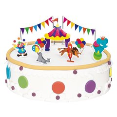 Circus Cake Decoration, Radar 251.04, Pack of 9 pieces