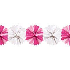 Ghirlanda decorativa cu pampoane albe & roz - 5m, Radar 545.50