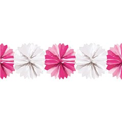 White&Pink Paper Fluffy Decoration Garland - 5m, Radar 545.50