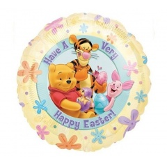 """18"""" Winnie The Pooh Happy Easter Foil Balloon, Amscan 10717"""