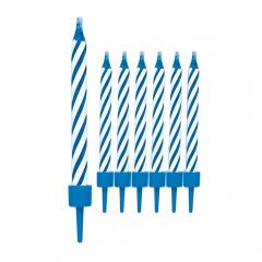 Lumanari magice albastre pentru tort care nu se sting, Radar 51349, Set 10 buc