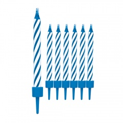 Magic Relighting Birthday Candles, Blue, Radar 51349, Pack of 10 pieces