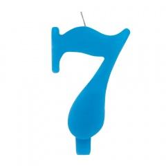 Lumanare aniversara pentru tort, Cifra 7, Albastru, Radar 50927, 1 buc